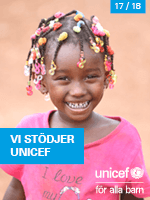 Vi stödjer UNICEF